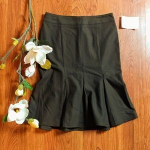 New vintage style chocolate brown classic skirt